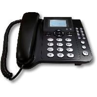 Telephonie Fixe CoComm F300 Téléphone Filaire 3G - Noir