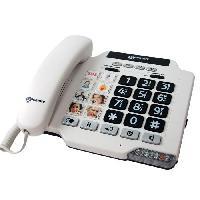 Telephonie Fixe GEEMARC Téléphone amplifié grosses touches sénior PHOTOPHONE 100 - A mémoires photo directes