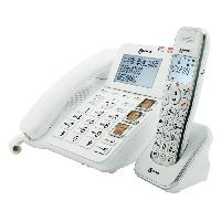Telephonie Fixe GEEMARC Telephone filaire grosses touches senior AMPLIDECT COMBI 295 + AMPLIDECT 295 AD