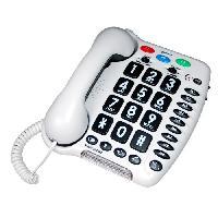 Telephonie Fixe GEEMARC Téléphone fixe grosses touches sénior AMPLIPOWER 40 - Blanc
