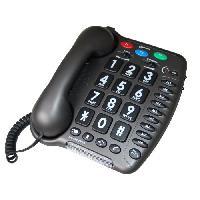 Telephonie Fixe GEEMARC Téléphone fixe grosses touches sénior AMPLIPOWER 40 - Gris anthracite