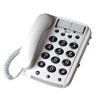 Telephonie Fixe GEEMARC Téléphone grosses touches séniors bi-bloc DALLAS 10