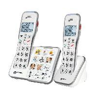 Telephonie Fixe GEEMARC Téléphone sans fil grosses touches sénior  AMPLIDECT 595-2 PHOTO