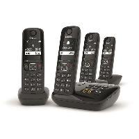 Telephonie Fixe GIGASET Téléphone Fixe AS690 A Quattro Noir