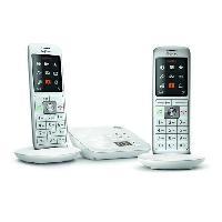 Telephonie Fixe GIGASET Téléphone Fixe CL 660 A Duo Blanc