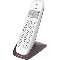 Telephonie Fixe LOGICOM Double téléphones sans fil VEGA 250 DUO Aubergine sans répondeur