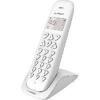 Telephonie Fixe LOGICOM Téléphone sans fil VEGA 150 SOLO Blanc sans répondeur