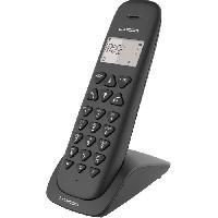 Telephonie Fixe LOGICOM Téléphone sans fil VEGA 150 SOLO Noir sans répondeur