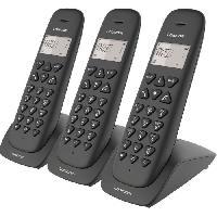 Telephonie Fixe LOGICOM Triple Téléphones sans fil VEGA 355T TRIO Noir avec répondeur