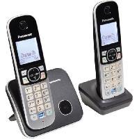 Telephonie Fixe PANASONIC Téléphone résidentiel dect - TG6812 - Duo sans répondeur - Argent et noir