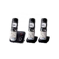Telephonie Fixe PANASONIC Téléphone résidentiel dect - TG6823 - Trio avec répondeur - Argent et noir