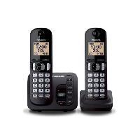 Telephonie Fixe PANASONIC téléphone DECT duo noir avec répondeur