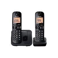 Telephonie Fixe PANASONIC téléphone DECT duo noir sans répondeur