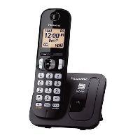 Telephonie Fixe PANASONIC téléphone DECT solo noir sans répondeur