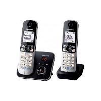 Telephonie Fixe Panasonic KX-TG6822 Duo Téléphones Sans fil Répondeur Noir Gris