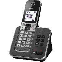 Telephonie Fixe Panasonic KX-TGD310FRG Solo Téléphone sans fil sans Repondeur Noir