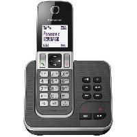 Telephonie Fixe Panasonic KX-TGD320FRG Solo Téléphone Sans Fil Répondeur Noir