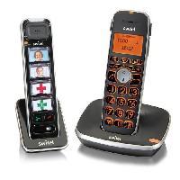 Telephonie Fixe Switel D112 Vita Comfort Set Senior Téléphones fixes sans fil avec combiné Photos. amplification. touches et écran XL