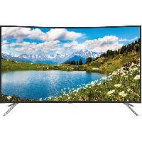 Televiseur CONTINENTAL EDISON TV LED incurvée 4 K UHD 55' (140 cm) - Résolution 3840x2160 - 3x HDMI. 2x USB - Port optique