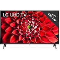 Televiseur LG 43UN711C - TV LED UHD 4K - 43 (108cm) - HDR - Smart TV - 3 x HDMI - 2 x USB - Classe énergétique A