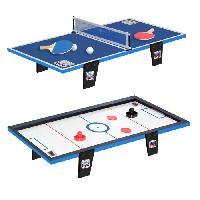 Tennis De Table - Ping Pong CDTS Table de ping-pong + Table de hockey - 81 x 40 cm - Generique