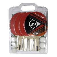 Tennis De Table - Ping Pong DUNLOP Set de tennis de table G Force Match 4 Joueurs 4 raquettes + 6 balles + 1 filet et poteaux