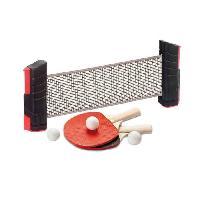 Tennis De Table - Ping Pong Ensemble Poteaux et Filet Extensible de Ping-Pong + 2 Raquettes et Balles
