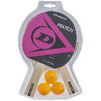 Tennis De Table - Ping Pong Kit de tennis de table - DUNLOP -MATCH 2 PLAYER SET
