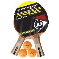 Tennis De Table - Ping Pong Set de tennis de table Rage Match 2 Joueurs 2 raquettes + 3 balles