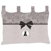 Tete De Lit SOLEIL D'OCRE Tete de lit en coton Black Dress - 45x70 cm