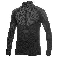 Textile Technique Keep Warm - Col officier zippe - Manches longues - Noir - Taille S - Craft