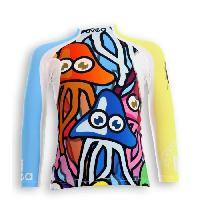 Textile Technique UVEA Teeshirt rashguard anti UV 80+ maillot manches longues INDIANA - Taille 2-4 ans - Imprime funnyjelly