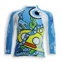 Textile Technique UVEA Teeshirt rashguard anti UV 80+ maillot manches longues INDIANA - Taille 2-4 ans - Imprime yellowsubmarine Aucune