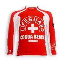 Textile Technique UVEA Teeshirt rashguard anti UV 80+ maillot manches longues INDIANA - Taille 2/4 ans - Couleur rouge
