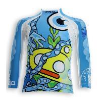 Textile Technique UVEA Teeshirt rashguard anti UV 80+ maillot manches longues INDIANA - Taille 2/4 ans - Imprimé yellowsubmarine