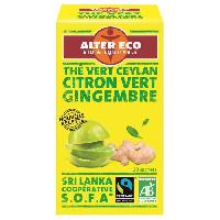 The ALTER ECO The Vert Citron Vert Gingembre Bio 40g