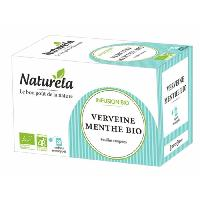 The Naturela Infusion Verveine Menthe Infusettes 20 x 1.6g Bio