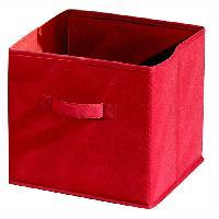 Tiroir  - Etagere  - Panier Coulissant Pour Dressing COMPO CUBE 16 Tiroir tissu rouge