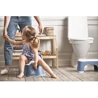 Toilette Bebe BABYBJORN Marchepied. Bleu profond/Blanc