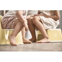 Toilette Bebe BABYBJORN Marchepied. Jaune pastel/Blanc
