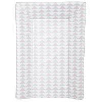 Toilette Bebe BABYCALIN Matelas a langer Luxe - Motifs géométriques - Rose et gris - 50 x 70 cm