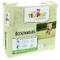 Toilette Bebe Les Tilapins couches écologiques T4x32 couches - Aucune