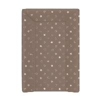 Toilette Bebe Matelas a Langer Luxe 50 x 70 cm Etoile Taupe Toise Imprimee