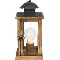 Tracage - Decoupage - Collage Lampe a poser - Ampoule LED incluse - L13 cm x H27 cm - 0.06W 3 V