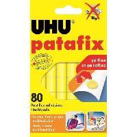 Tracage - Decoupage - Collage UHU Patafix Jaune 80 pastilles