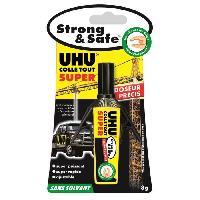 Tracage - Decoupage - Collage UHU Strong et Safe Sans Solvant Doseur 3g