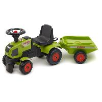 Tracteur - Vehicule Agricole - Vehicule De Chantier FALK Porteur Claas Axos 310 + Remorque