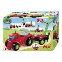 Tracteur - Vehicule Agricole - Vehicule De Chantier Tracteur Remorque + Tondeuse 103.5 cm