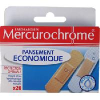 Traitements Libre Service - Soins Pathologies 20 Pansements Mercurochrome Generique
