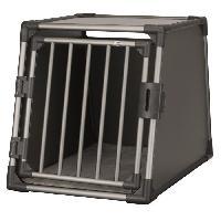 Transport - Deplacement - Promenade Box de transport - Aluminium - M et L - 61 x 65 x 86 cm - Gris graphite - Pour chien